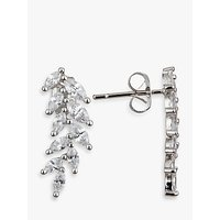 Ivory & Co. Icon Marquise Cubic Zirconia Cluster Drop Earrings, Silver