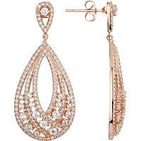 Ivory & Co. Twilight Statement Teardrop Earrings, Rose Gold