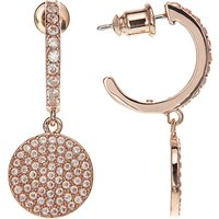 kate spade new york Glass Pave Drop Earrings, Rose Gold/Blush