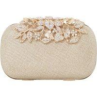 Dune Emberrs Box Clutch Bag, Gold