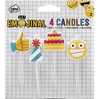 Emojinal Candles, Pack of 4