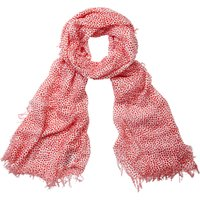 Pure Collection Animal Print Scarf, Red