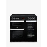 Belling Cookcentre 90E Electric Range Cooker With Ceramic Hob, Black