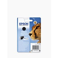 Epson Cheetah T0711 Inkjet Printer Cartridge, Black
