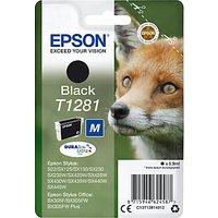 Epson Fox T1281 Inkjet Printer Cartridge, Black