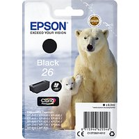 Epson Polar Bear T2601 Inkjet Printer Cartridge, Black
