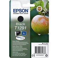 Epson Apple T1291 Inkjet Printer Cartridge, Black
