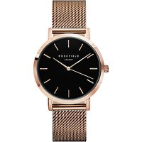 ROSEFIELD Womens The Mercer Mesh Bracelet Strap Watch
