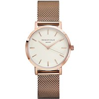 ROSEFIELD Womens The Tribeca Mesh Bracelet Strap Watch