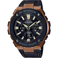 Casio Mens G-Shock Chronograph Leather Strap Watch