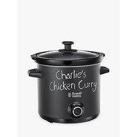 Russell Hobbs 3.5L Chalkboard Slow Cooker, Black