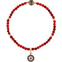 Melissa Odabash Beaded Eye Stretch Bracelet, Coral