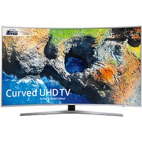 Samsung UE49MU6500 Curved HDR 4K Ultra HD Smart TV, 49 with TVPlus/Freesat HD & Active Crystal Colour, Silver, Ultra HD Certified