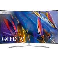 Samsung QE65Q7C Curved QLED HDR 1500 4K Ultra HD Smart TV, 65 with TVPlus/Freesat HD & 360 Design, Ultra HD Premium Certified, Silver