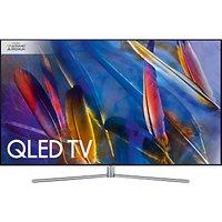 Samsung QE55Q7F QLED HDR 1500 4K Ultra HD Smart TV, 55 with TVPlus/Freesat HD & 360 Design, Silver, Ultra HD Premium Certified