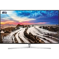 Samsung UE75MU8000 HDR 4K Ultra HD Smart TV, 75 with TVPlus/Freesat HD, Dynamic Crystal Colour & 360 Design, Ultra HD Certified, Silver