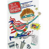 Rachel Ellen Super Grandson Birthday Card