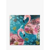 Woodmansterne Flamingos Happy Birthday Card