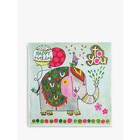 Rachel Ellen Elephant Birthday Card