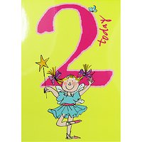 Woodmansterne Girl With Magic Wand 2nd Birthday Card