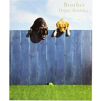 Woodmansterne Labradors Brother Birthday Card