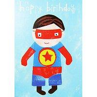 Paper Salad Superman Birthday Card