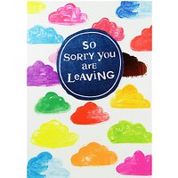 Paper Salad Sorry You Are Leaving Card