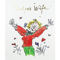 Woodmansterne Lady With Flowers Wife Birthday Card