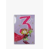 Woodmansterne Little Girl In Cloak 3rd Birthday Card