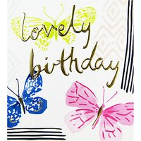 The Proper Mail Company Pastel Butterflies Birthday Card