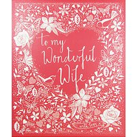 Woodmansterne Silhouette Heart Wife Birthday Card