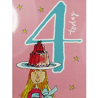 Woodmansterne Girl Balancing Jelly 4th Birthday Card