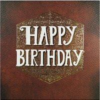 Rachel Ellen Pattern Leather Happy Birthday Card