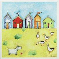 Woodmansterne Seaside Huts Greeting Card