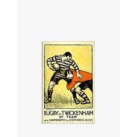 London Transport Museum - Rugby At Twickenham Print, 30 x 40cm
