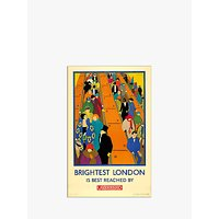 London Transport Museum - Brightest London is Reached by Underground Print, 30 x 40cm