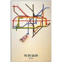 London Transport Museum - Tate Gallery Unframed Print, 30 x 40cm