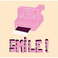 House by John Lewis, Hello Marine - Smile Polaroid Unframed Print, 30 x 40cm