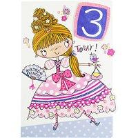 Rachel Ellen Age 3 Princess Birthday Card