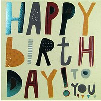 Rachel Ellen Happy Birthday To You Card