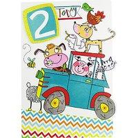 Rachel Ellen Age 2 Tractor Birthday Card