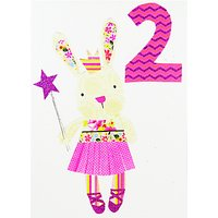Paper Salad Age 2 Girl Bunny Birthday Card