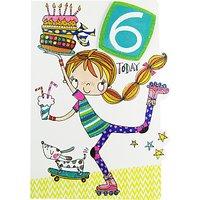 Rachel Ellen 6 Today Roller Blades Birthday Card
