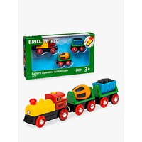 Brio Battery Operated Train And Wagons