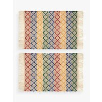 John Lewis Alfresco Stripe Placemats, Set of 2, Multi