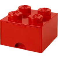 LEGO 4 Stud Storage Drawer, Red