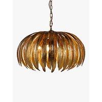 John Lewis & Partners Montserrat Leaf Ceiling Light, Gold