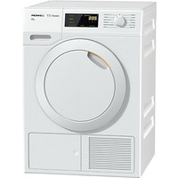 Miele TDB130WP Eco Heat Pump Tumble Dryer, 7kg Load, A++ Energy Rating, White