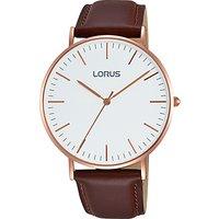 Lorus Mens Leather Strap Watch
