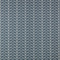 Orla Kiely Linear Stem PVC Tablecloth Fabric, Cool Grey